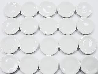 Dollhouse Miniatures 20 White Round Plates Dish 2cm Ceramic Kitchen Supply - 3386