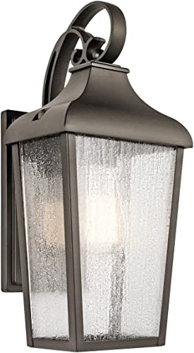"""new arrival Forestdale high quality 14.75"""" 1 Light Outdoor Wall popular Light with Clear Seeded Glass in Olde Bronze sale"""