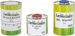 Lackierladen Autolack 2,5 Liter Set HS Klarlack Härter Wunschfarbe spritzfertig Audi LZ5D,7X Nachtblau Met. Bl 2003 2013