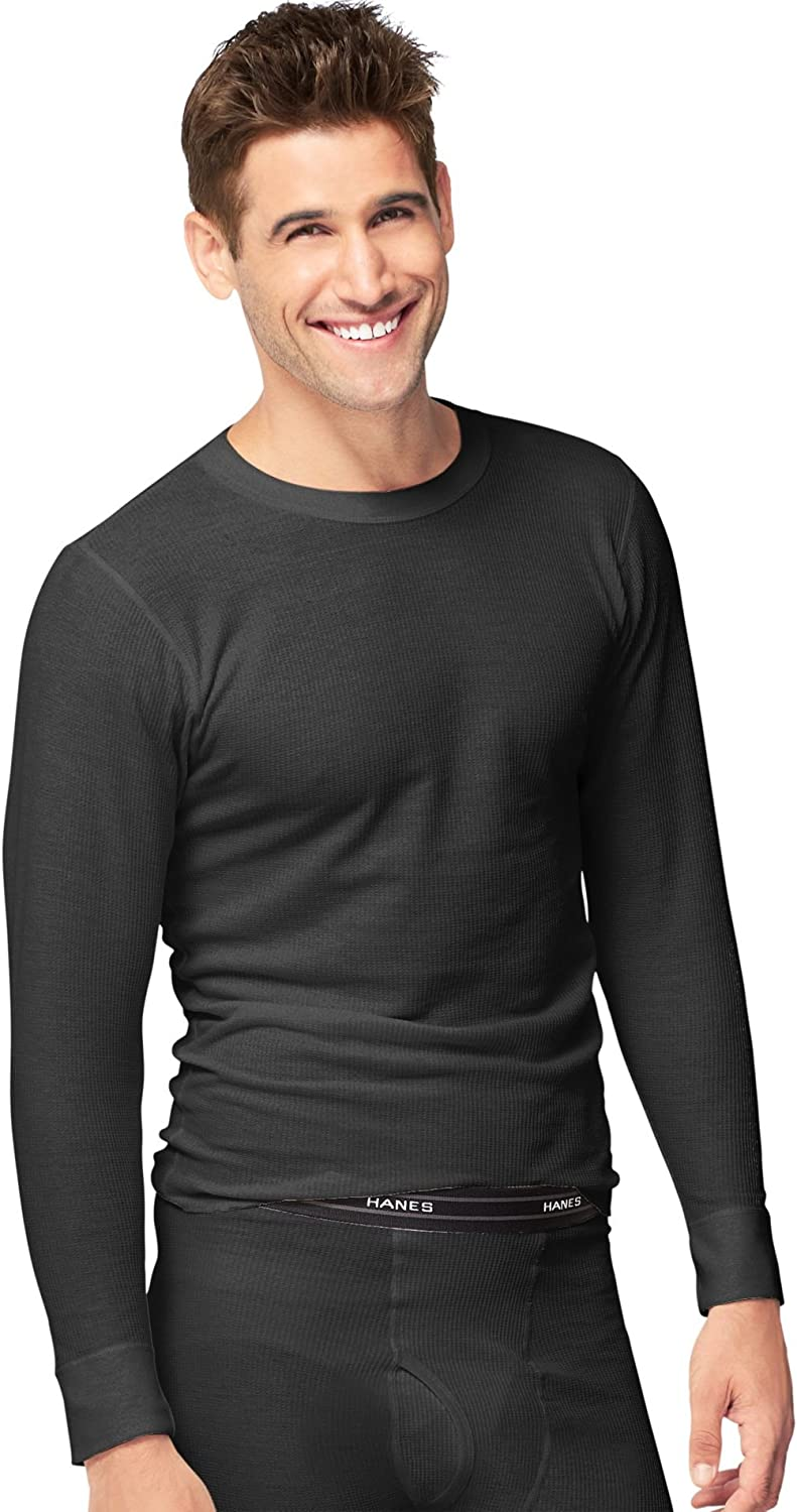 Hanes Men's Red Label X-Temp Thermal Long Sleeve Crew Top