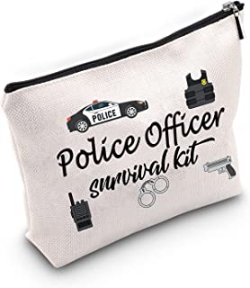 هدية ضابط الشرطة من TSOTMO حقيبة مكياج لإنفاذ القانون وضابط الشرطة ومجموعة حقائب مستحضرات التجميل هدية للتقاعد أو التخرج
