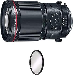 Canon TS-E 135mm f/4L Macro Tilt-Shift Lens + UV Protective Filter Combo (International Model)