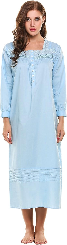 HOTOUCH Women's Comfort Cotton Nightshirt Sleeveless Sleepwear Nightgowns SXXL