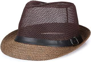 ZiWen Lu Summer Linen Visor hat, Sun hat, Outdoor Straw hat (Color : Brown, Size : XL60cm)