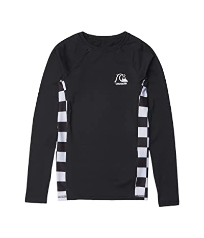 Quiksilver Kids Check This Long Sleeve Rashguard (Big Kids) (Black) Boy