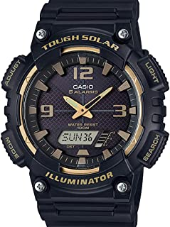 Casio Mens Solar Powered Watch, Analog-Digital Display and None Strap AQ-S810W-1A3VDF (AD209)