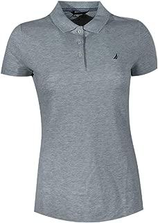 Nautica Women Short Sleeve Logo Classic Polo T-Shirt