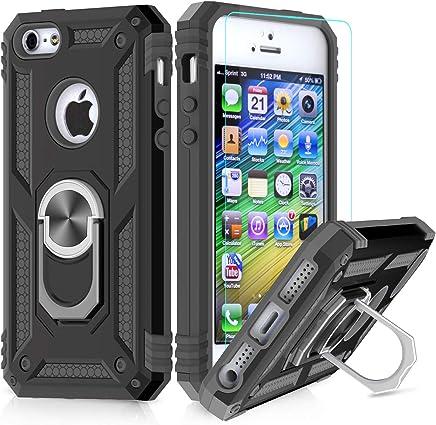 6d28e95b876 LeYi Funda iPhone 6 / 6S / 7/8 Armor Carcasa con 360 Anillo iman Soporte  Hard PC y Silicona TPU Bumper antigolpes Fundas Carcasas Case para movil  iPhone 7/8 ...