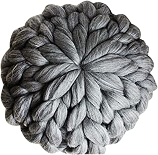 chunky knit throw pillow