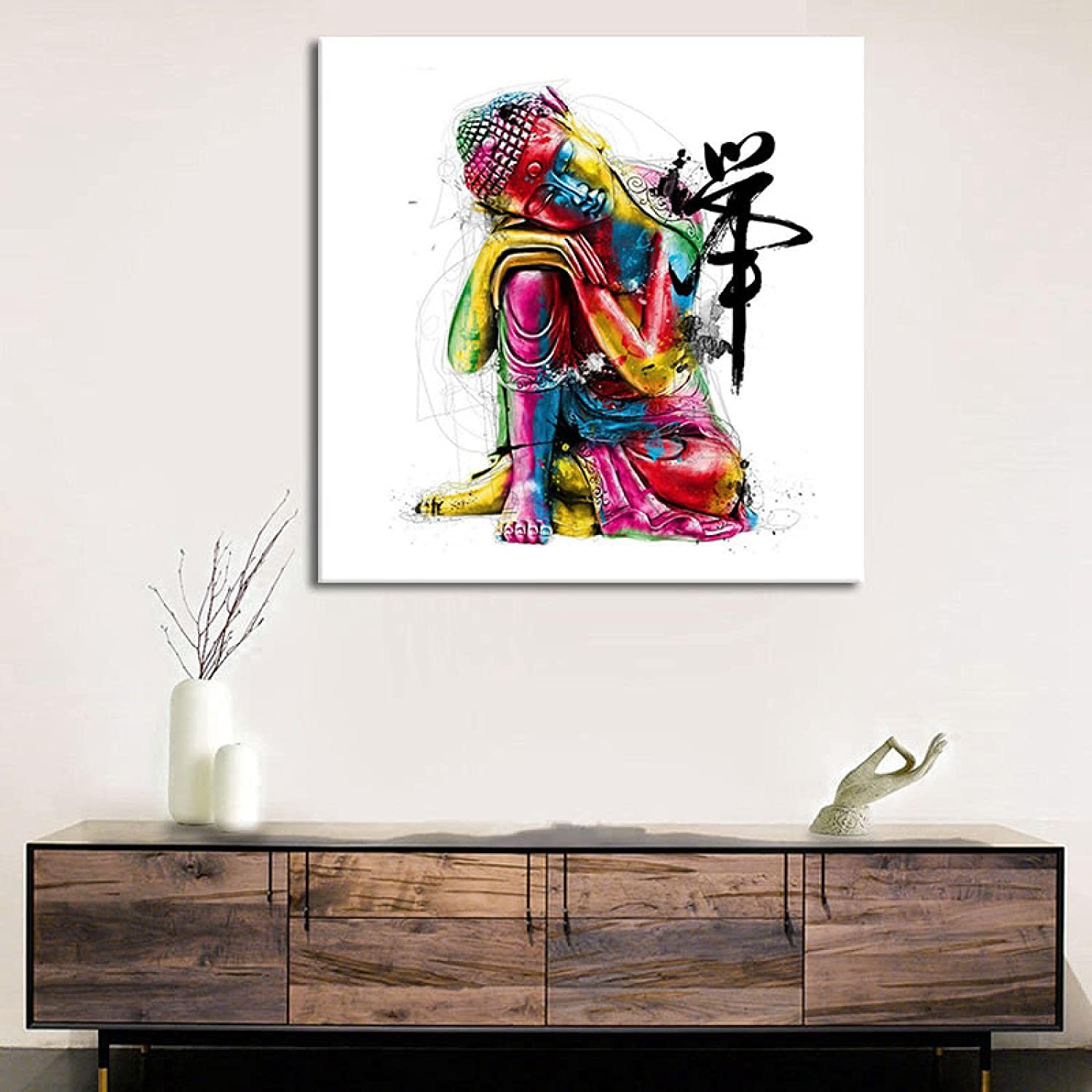 wholesale Canvas Painting Modern Posters Zen Wall A Chicago Mall Prints Buddha Abstract