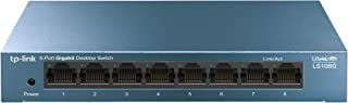 TP-Link Litewave 8-Port Gigabit Desktop Switch - Green Technology, High-Quality Metal Casing, Plug and Play, Unmanaged (LS...
