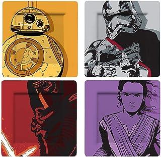 Funko SW02715 Star Wars Plate Set: Kylo, BB-8, Stormtrooper and Phasma (Comic), Melamine, Multi-Colour, 20.5 x 2 x 20.5 cm