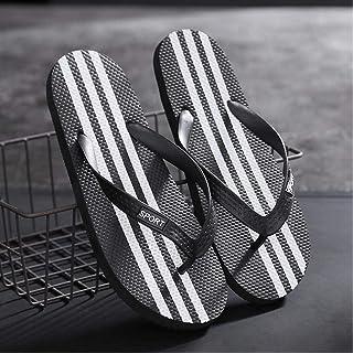 QETUOA Couple Flip Flops Men Summer Beach Shoes Non-Slip Sandals Students Solid Color Casual Korean Version