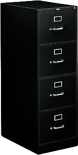 HON 4-Drawer Legal File - Full-Suspension Filing Cabinet, 26-1/2-Inch Black (H314)