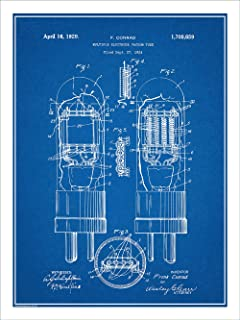 Studio 21 Graphix 1929 Conrad Vacuum Tube Patent Print Art Poster UNFRAMED Blueprint 18