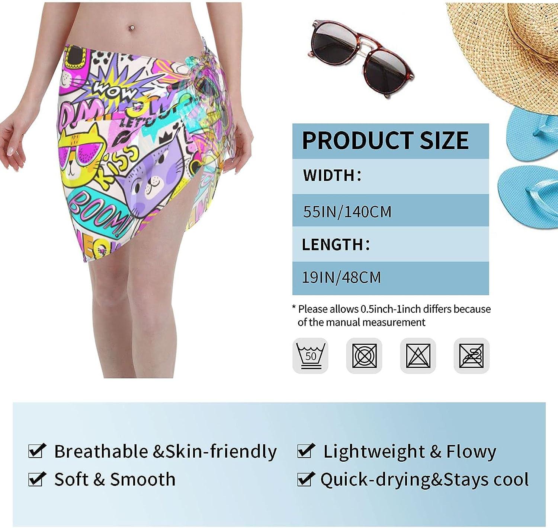 OcuteO Beautiful Rainbow Spiral Swirl Pattern Womens Tassel Swimwear Bikini Swim Beac
