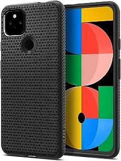 Spigen Pixel 5a 5G ケース TPU ソフト ケース マット 耐衝撃 米軍MIL規格取得 カメラ 液晶 保護 傷防止 指紋防止 衝撃吸収 Qi充電 ワイヤレス充電 リキッド・エアー ACS02907 (マット・ブラック)