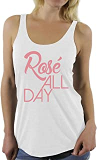 Awkward Styles Women's Rose All Day Relaxed Drinking Racerback Tank Tops