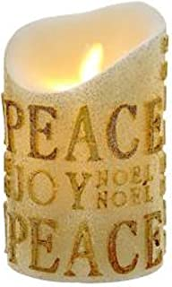 Kurt S. Adler 5-Inch Gold Flicker Flame Battery-Operated Candle, Multi