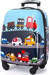 Lttxin kids Lttxin Cute Kids Suitcase Pull Along Boys Travelling With 4 Wheel Hard Shell 18 Inch For Boys Veholes