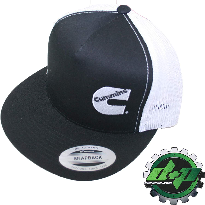 Dodge Cummins trucker mesh summer cummings hat ball cap flat bill snap back base