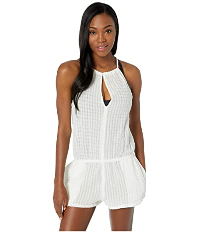 Speedo Keyhole Romper Cover-Up (White) Women