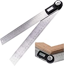 360 Degree 600mm 60cm (23 5/8 in) Digital Angle Ruler Angle Gauge Finder Meter Protractor Measure metric and imperial scale for automobile, tools, constructions, boating, woodworking and machining