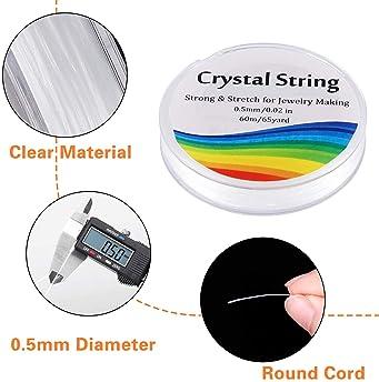 9 yard spool Clear Stretch Jewelry Cord .8mm Thick B3069