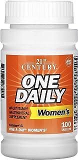 اقراص متعدد الفيتامينات والمعادن من توينتي ون سينتشري للنساء - الحجم 100 قرص