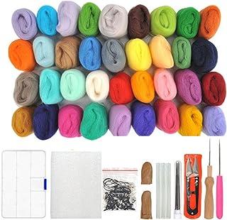 WOWOSS Lana de Fieltro 36 Colores Conjunto de Fieltro de