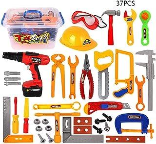Mumoo Bear 37Pcs Kids Tool Box Toy Set Portable Handy Worker Repairing Tools Toy Gift for Children