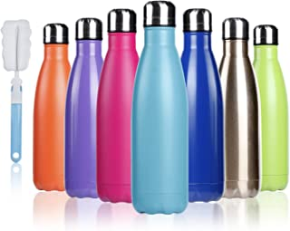 BOGI 17oz Insulated Water Bottle Double Wall Vacuum Stainless Steel Bottle Leak Proof keeps Hot and Cold Drinks for Outdoo...