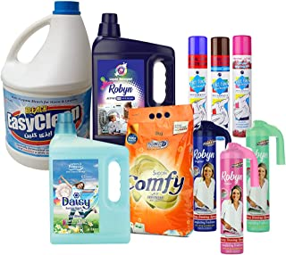Home Essentials - Jumbo Combo Laundry Kit - Comfy Detergent 3Kg + Robyn 3.5L + Daisy Fabric Softener 3.5L + Robyn Ironing ...