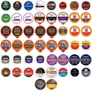 Bold & Dark Roast Coffee Single Serve Cups For Keurig K Cup Brewers Variety Pack Sampler (Premium Bold, 50)