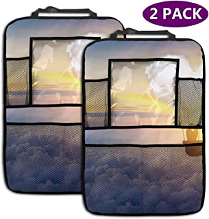 Lovers Kiss The Clouds with The Kiss of Love, The Hot Air Balloon and The Beautiful Sky. Car Seat Organizer Car Seat Back Protectors Kids Toy Bottle Drink Vehicles Travel Accessories 2 Pack
