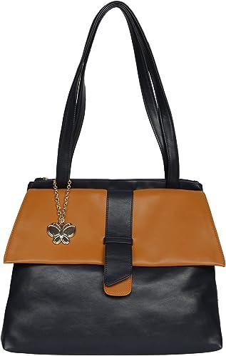 Butterflies Women Handbag Navy Blue BNS 0705NBL