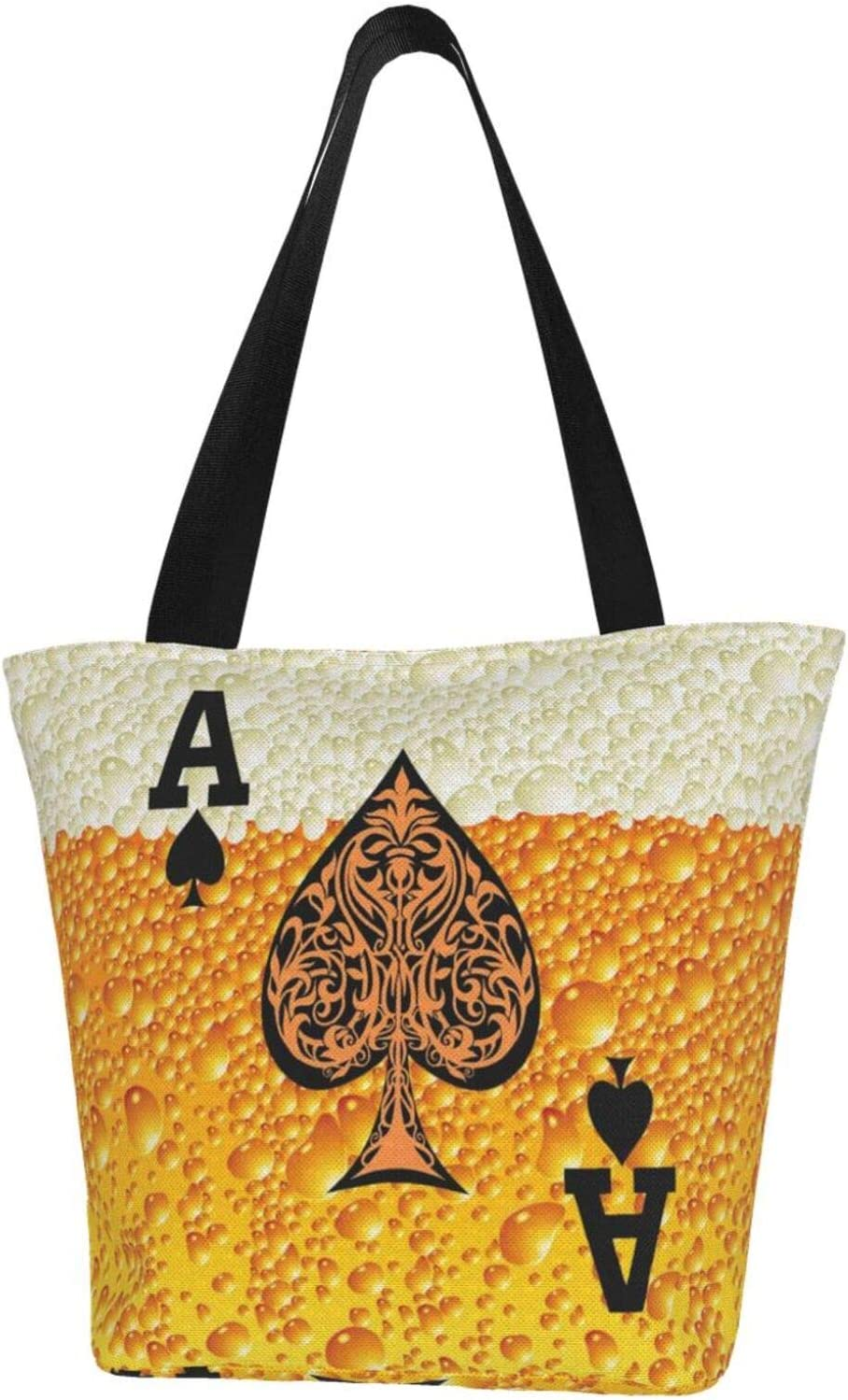 Selling rankings Ace of Spades Beer Extra Large Tote trust Bag Resistant Water Canvas f