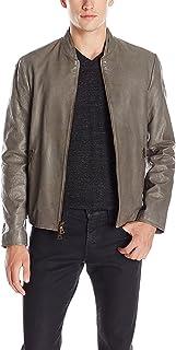 John Varvatos Men's Sage Leather Jacket, Brush, 52