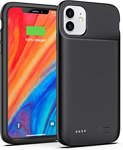 iPhone 11 Battery Case, 5000 mAh Rechargeable Extended Battery Charging Case for iPhone 11, Portable Protective Charg...