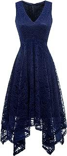 Best blue asymmetrical dress Reviews