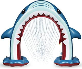 Anpro Giant Shark Sprinkler for Kids - Summer Inflatable Water Toys Outdoor Arch Sprinkler for Boys Girls, Outside Water G...