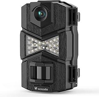 WOSODA Trail Camera, Waterproof 16MP 1080P Hunting Game Camera, Wildlife Camera with Upgraded 850nm IR LEDs Night Vision 2...