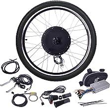 "JAXPETY 48V 1000W Electric Bicycle Cycle E Bike 26"" Front/Rear Wheel Ebike Hub Motor Conversion Kit Hub Motor Wheel"