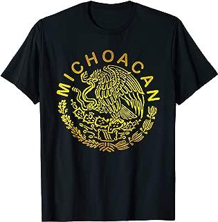 Jeyfel T-Shirt. Escudo de Mexico. Michoacan.
