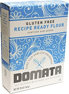 Domata Gluten Free Flour – 20 oz, Pack of 6 – Purpose Non-Gluten Flour – Cup for Cup Recipe Ready Flour – Xanthan Gum Adde...