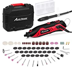 Rotary Tool Kit Variable Speed with Flex Shaft, 61pcs Accessories and Carrying Case for..