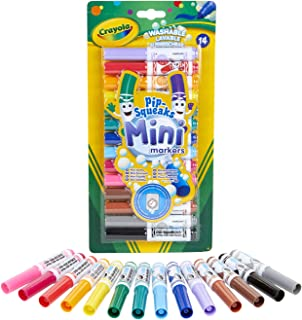 Crayola Pip-Squeaks Mini Washable Felt Tip Colouring Pens, Pack of 14 - Ideal for Little Fingers
