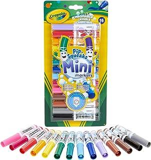 Crayola - 14 Mini feutres à colorier - Loisir créatif - Coloriage - papeterie - dessin - à partir de 3 ans - Jeu de dessin...