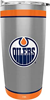 NHL 20-ounce Stainless Steel Tumbler - Double Wall Insulated Travel Mug with Leak-Proof Lid - Keeps Drinks Cold or Hot - I...
