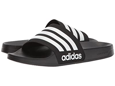adidas Adilette Shower (Black/White/Black) Men